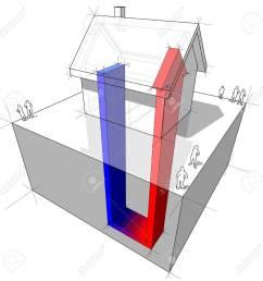 geothermal heat pump diagram stock vector 9930076 [ 1300 x 1300 Pixel ]