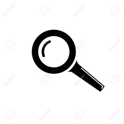 small resolution of magnifying glass icon stock vector 104723057