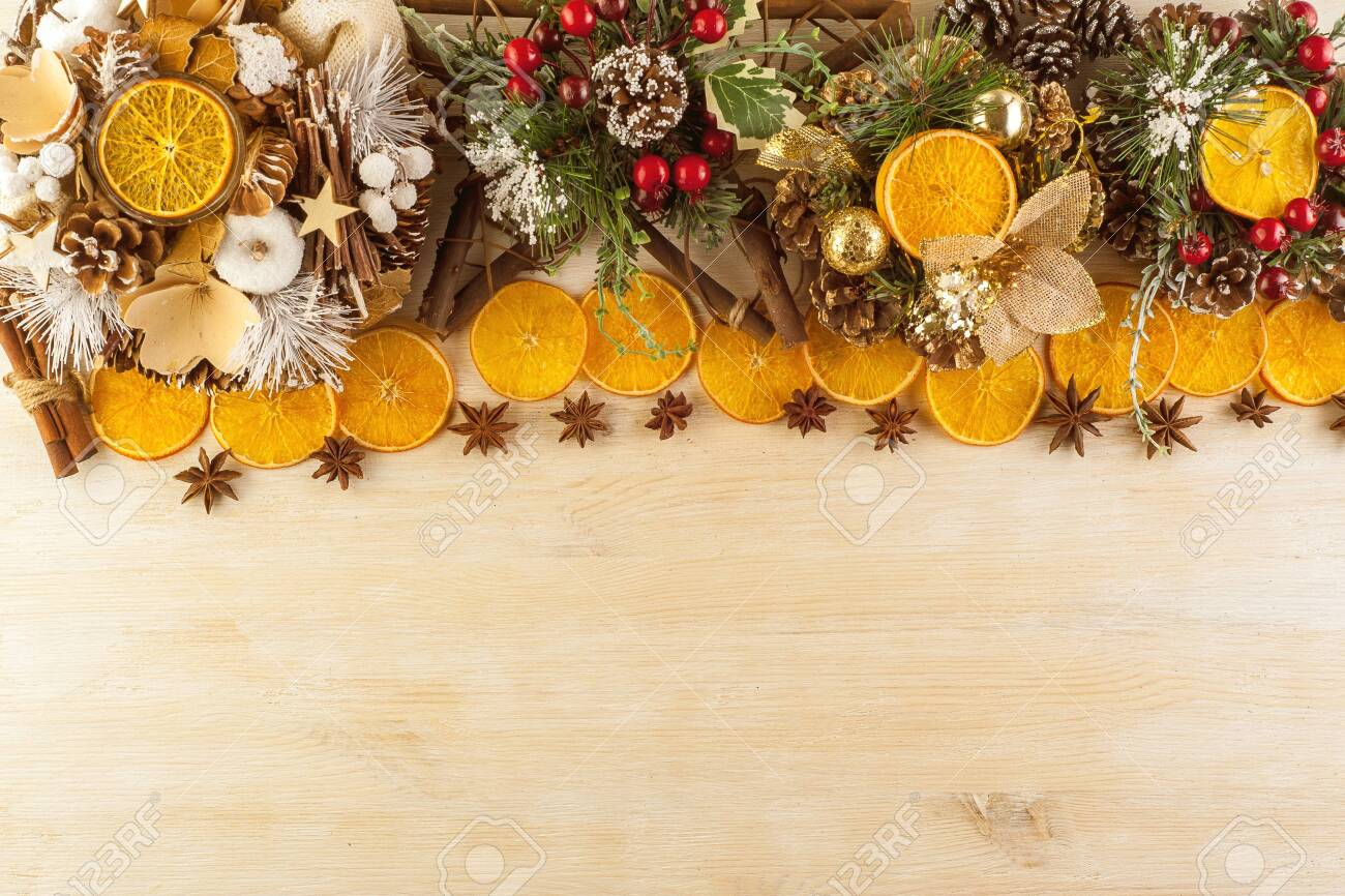 Christmas Decorations Made By Hand In A Festive Decoration On Stock Photo Picture And Royalty Free Image Image 139921151