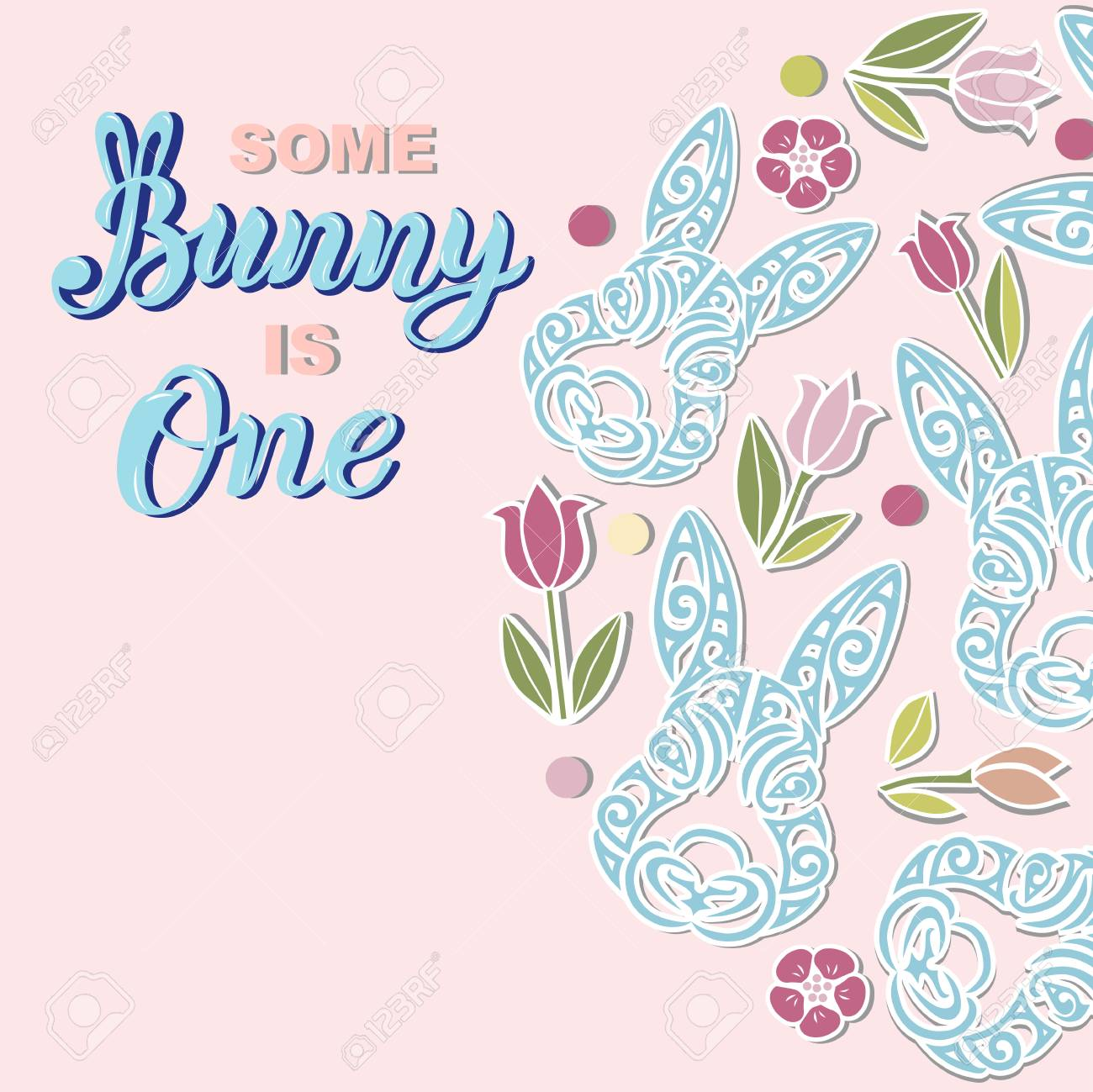 some bunny is one text is on the background with rabbits handwritten
