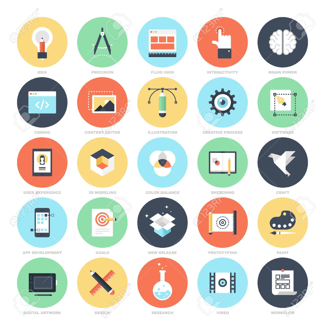 creative process icons