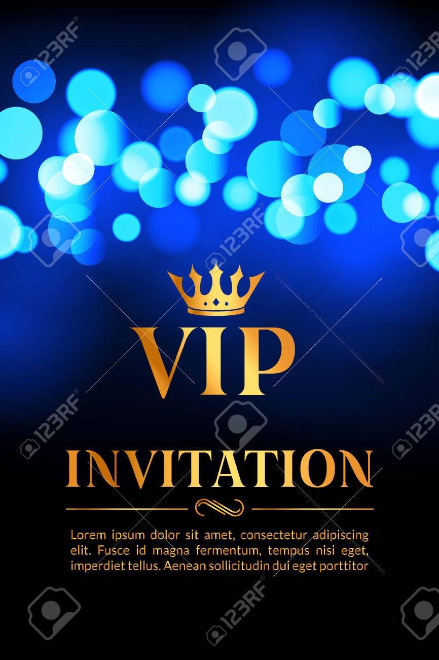 carte d invitation vip avec or et bokeh fond lumineux design luxueux de qualite superieure