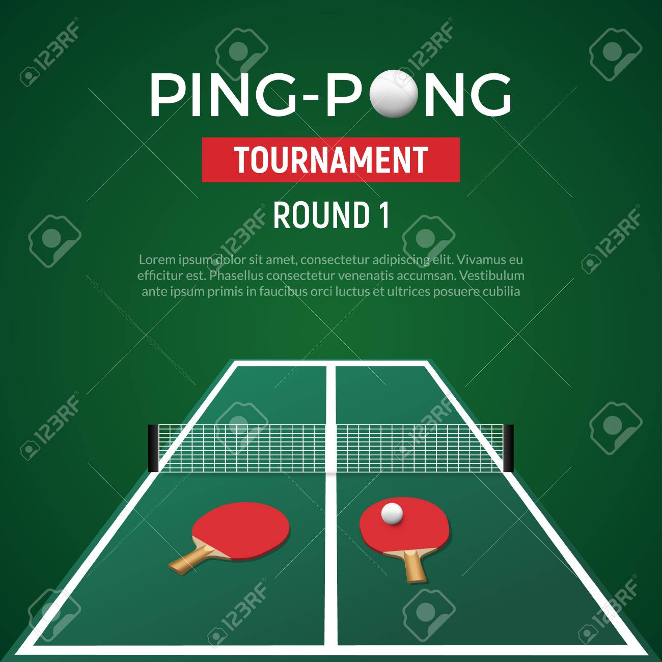 ping pont tennis tournament poster background table tennis with