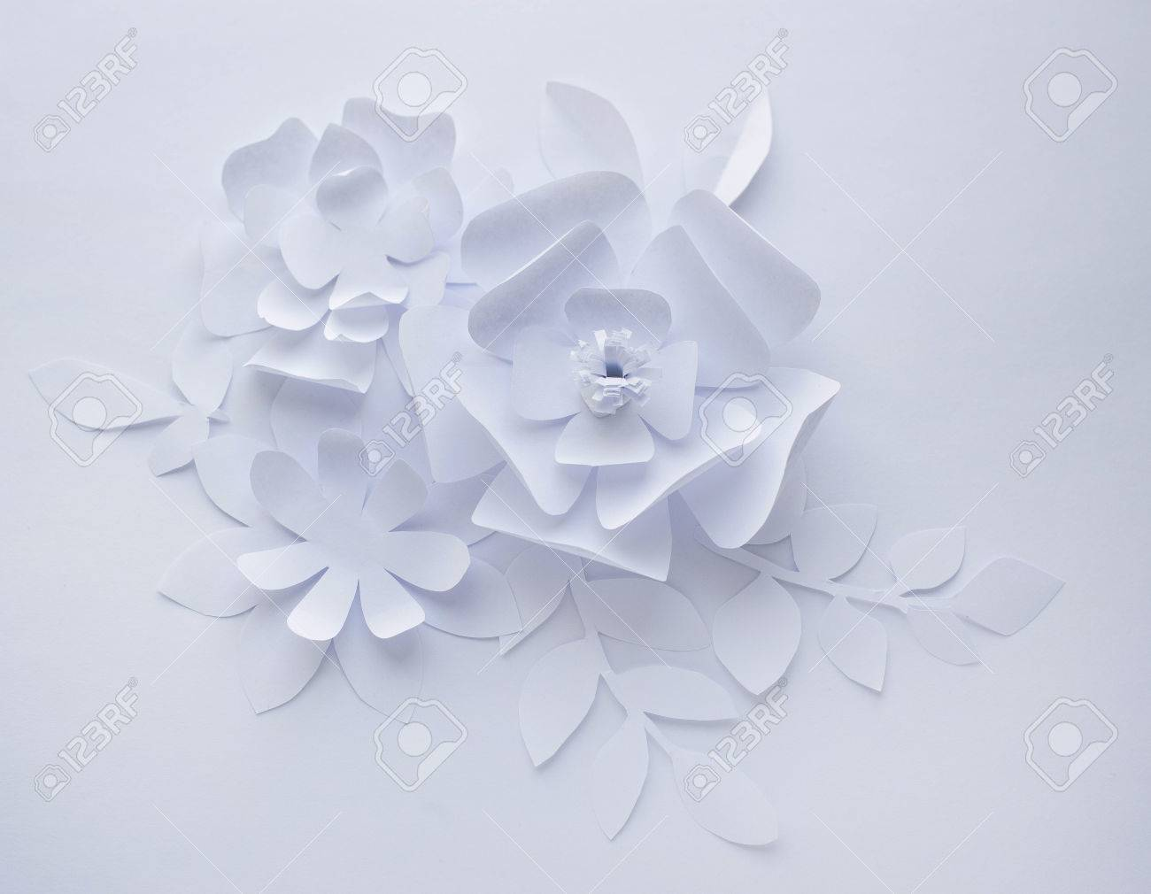 Paper Flower On White Background Paper Craft Flowers Paper Stock Photo Picture And Royalty Free Image Image 74415868