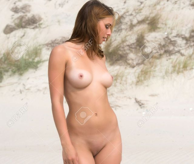 Beautiful Young Naked Posing On A Foggy Day Stock Photo 22980746