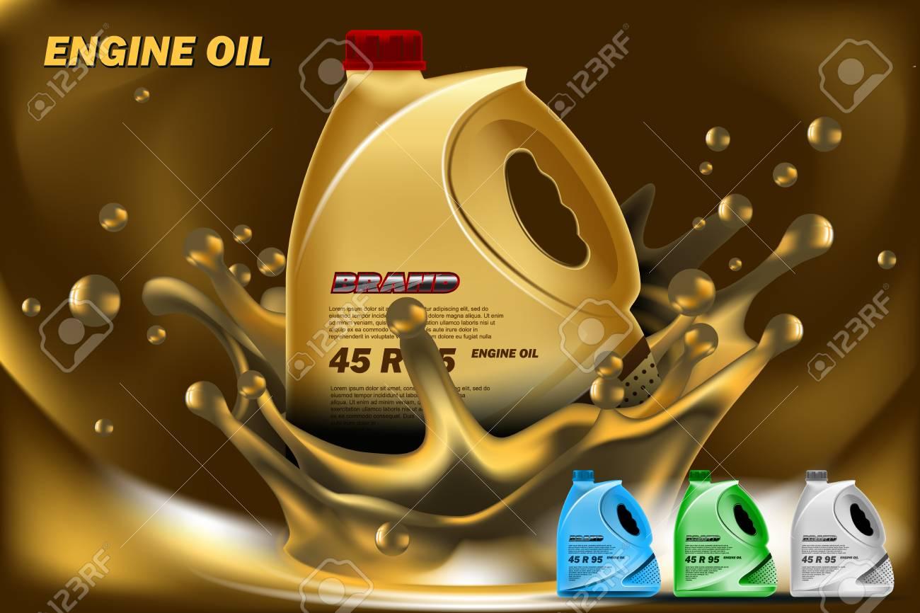 engine oil ads mockup