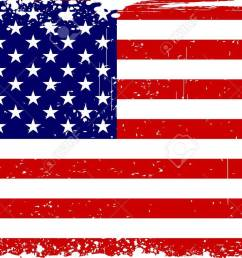 illustration of american flag with grungy border stock vector 14238175 [ 1300 x 812 Pixel ]