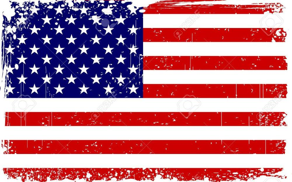 medium resolution of illustration of american flag with grungy border stock vector 14238175