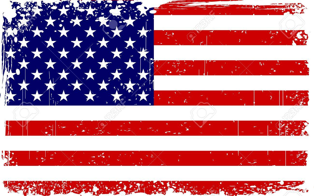 hight resolution of illustration of american flag with grungy border stock vector 14238175