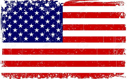 small resolution of illustration of american flag with grungy border stock vector 14238175