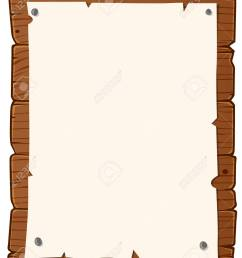 vector wooden bulletin board with paper for writing text [ 1040 x 1300 Pixel ]