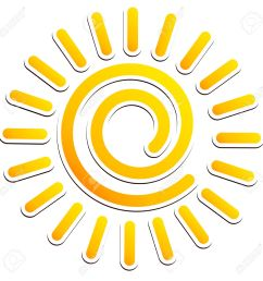 cool swirling sun clipart stock vector 34127390 [ 1300 x 1300 Pixel ]