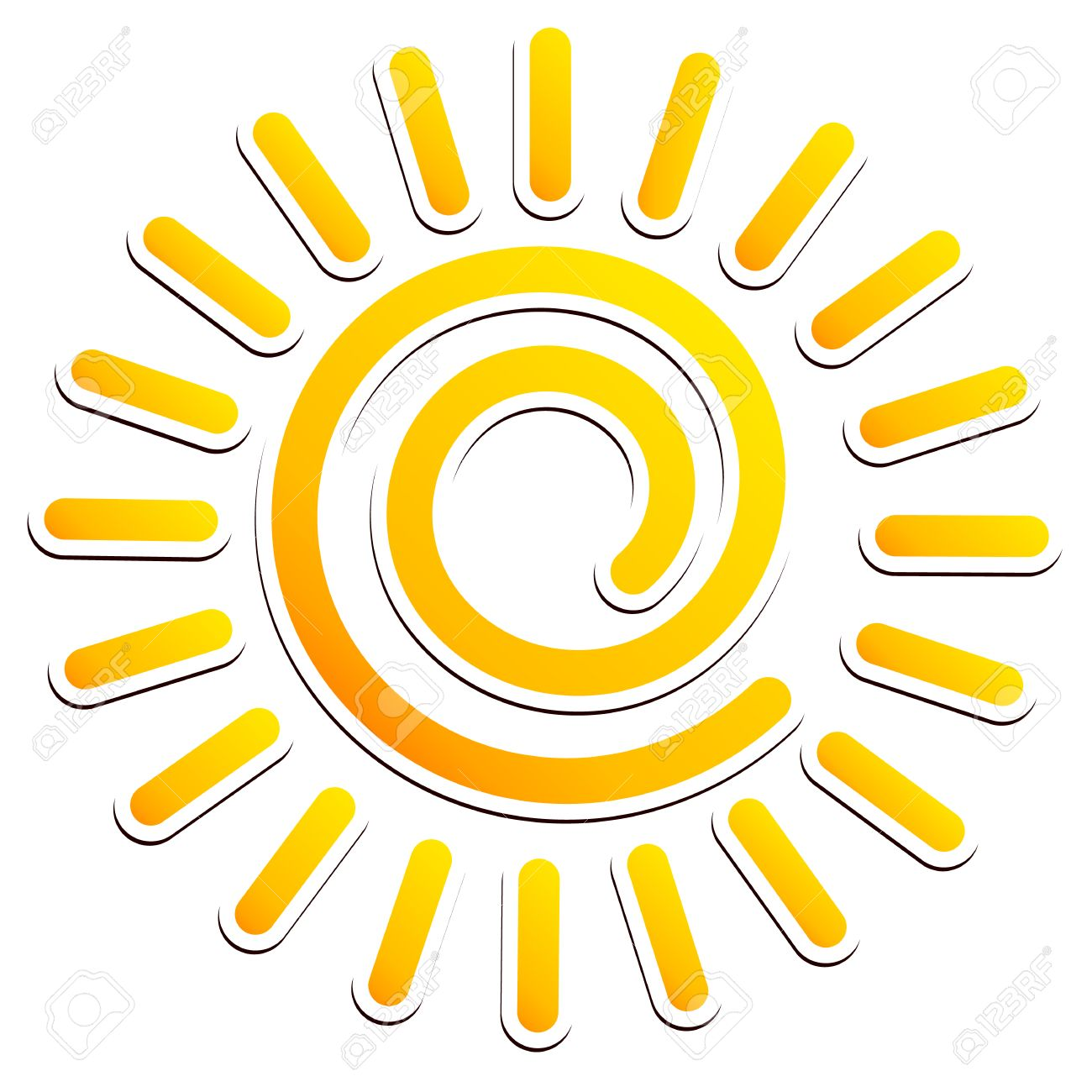 hight resolution of cool swirling sun clipart stock vector 34127390