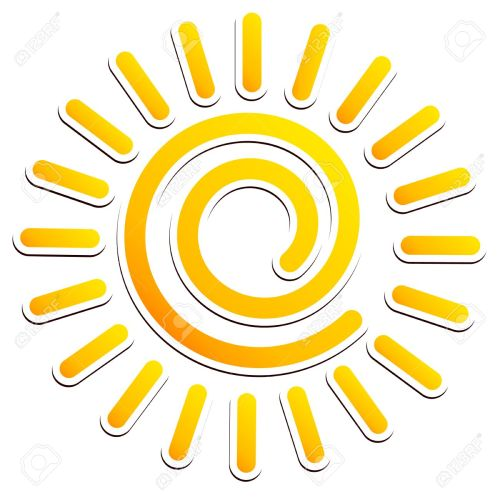 small resolution of cool swirling sun clipart stock vector 34127390
