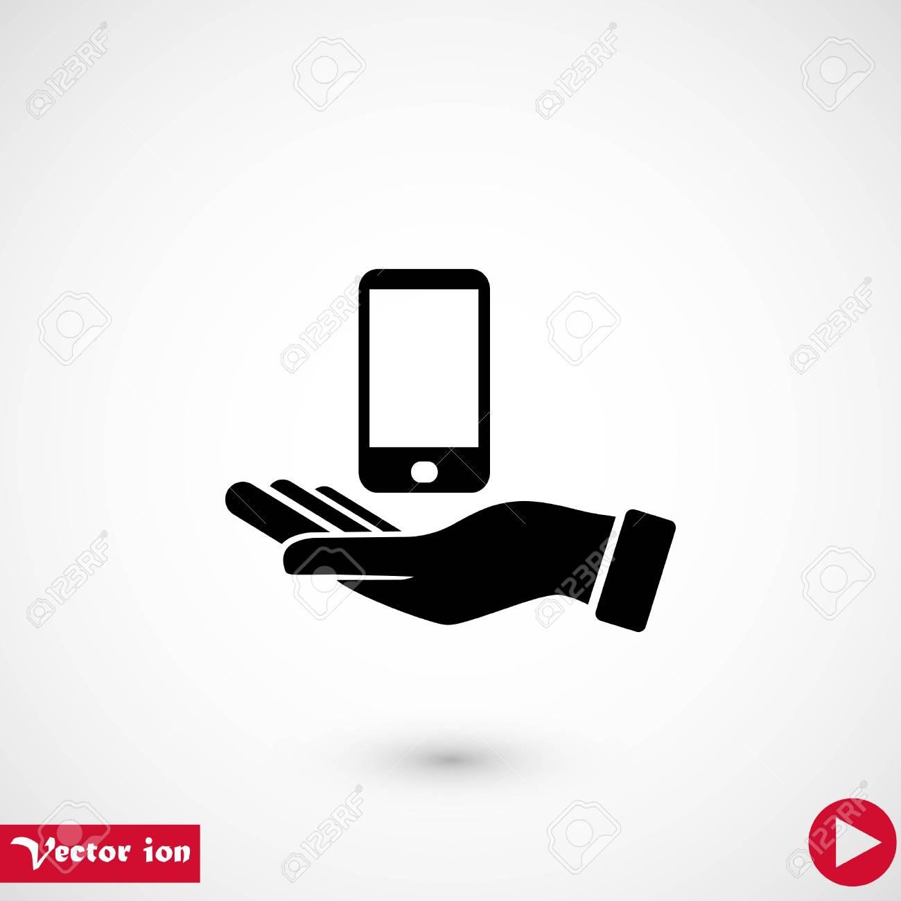 capture mobile icon flat
