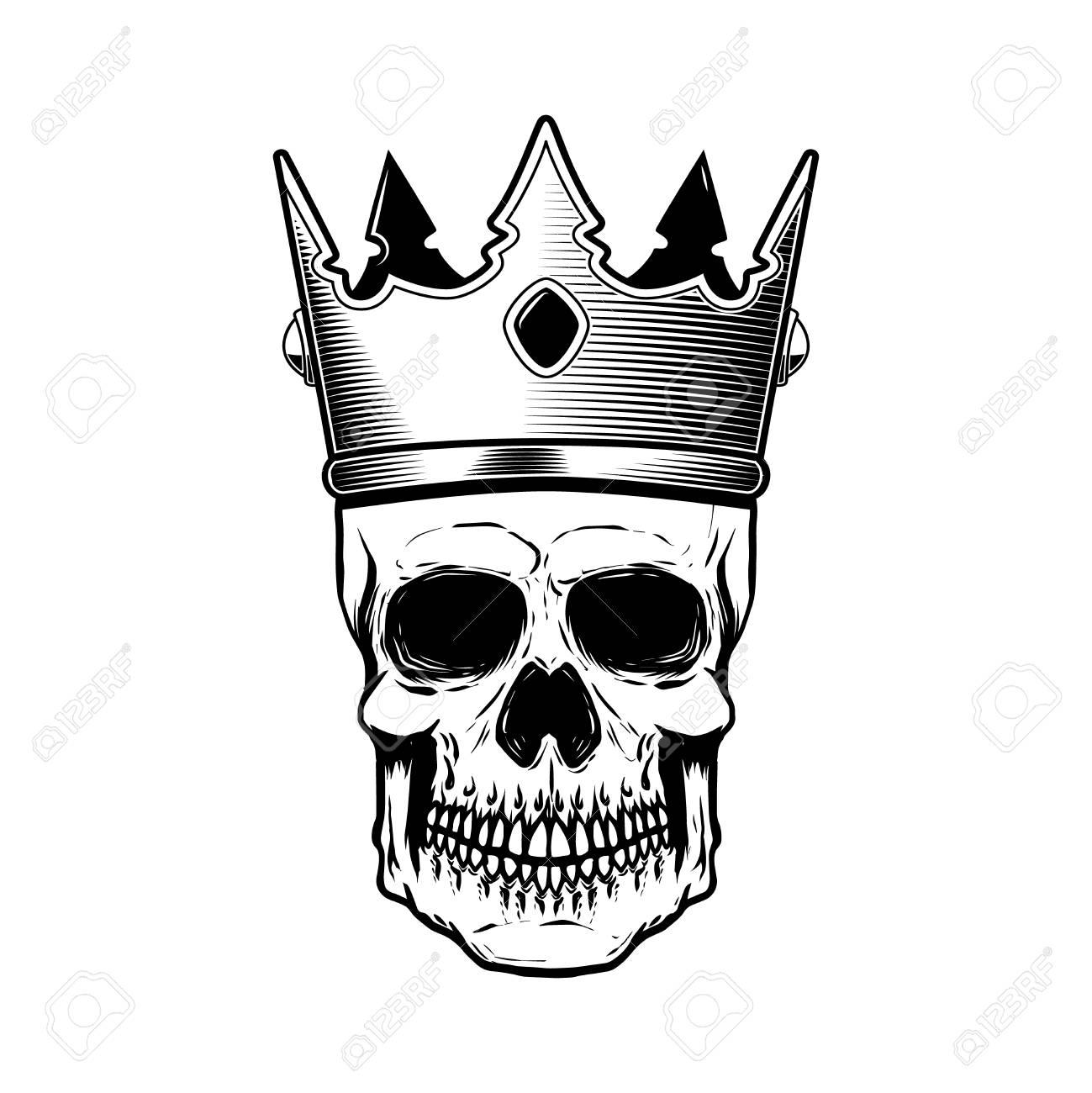 skull in king crown