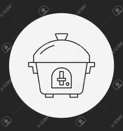 rice cooker line icon stock vector 41620846 [ 1300 x 1300 Pixel ]