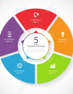 Vector infographic circle template for graph cycling diagram round chart workflow layout also rh rf