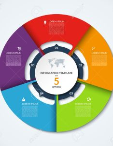 Circle infographic template vector layout with options can be used for cycle diagram also rh rf