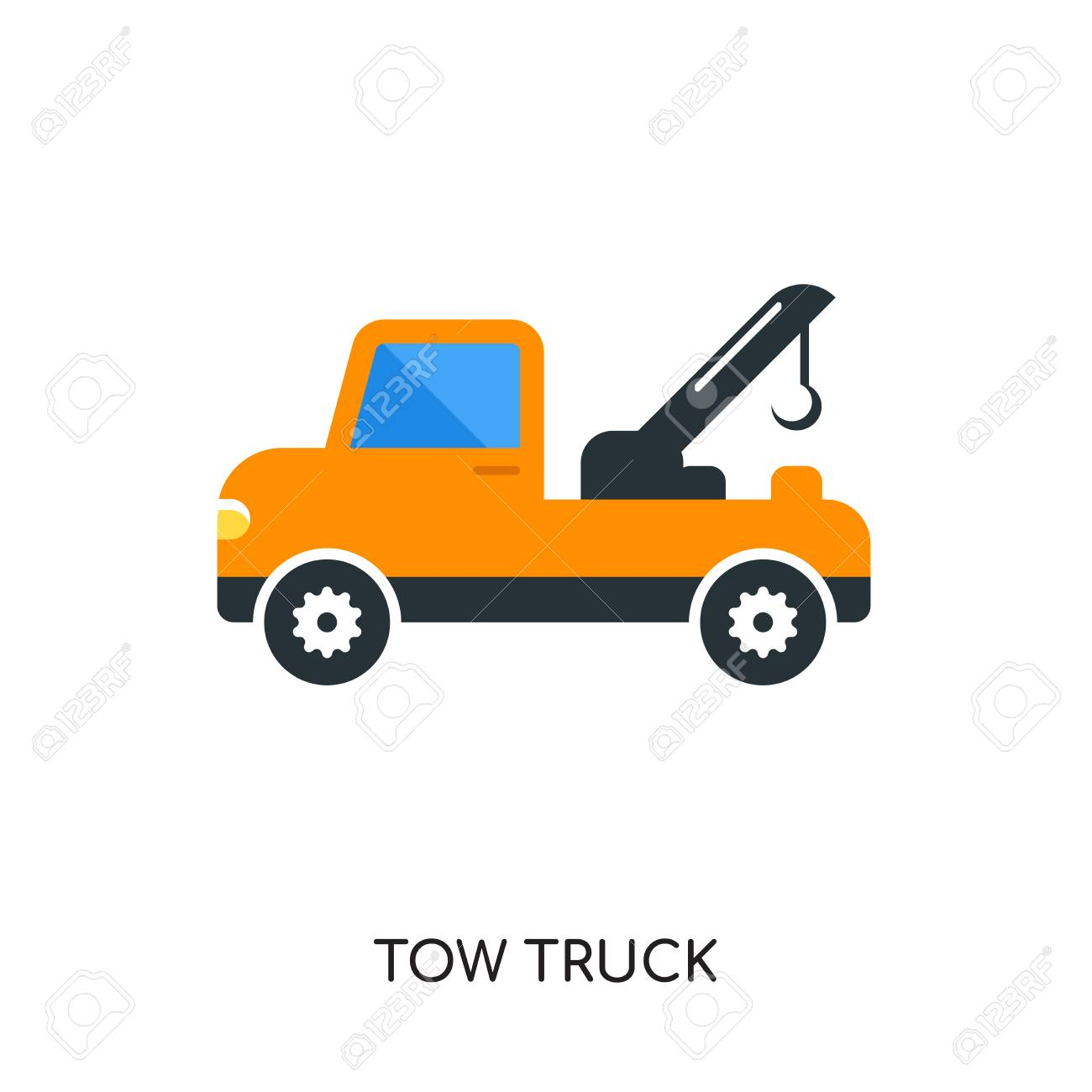 tow truck logo isolated