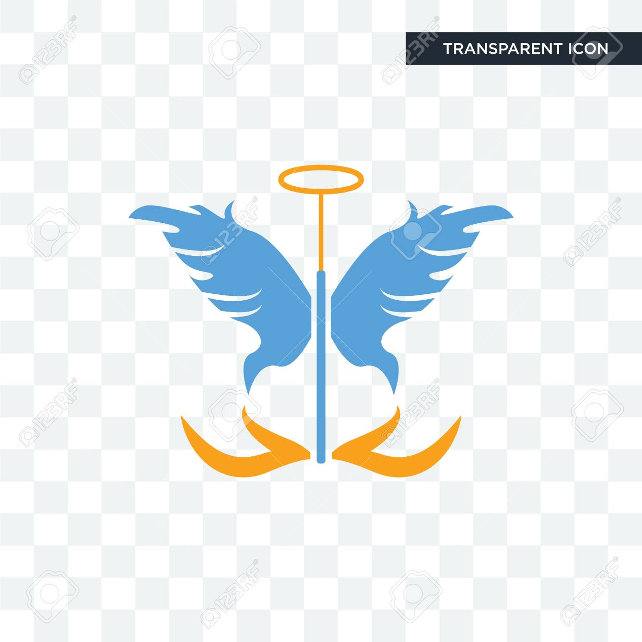 guardian angel vector icon