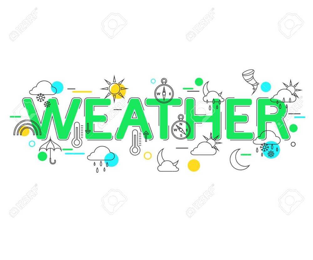 medium resolution of weather concept with vector icons and elements weather forecast weather icons weather banner