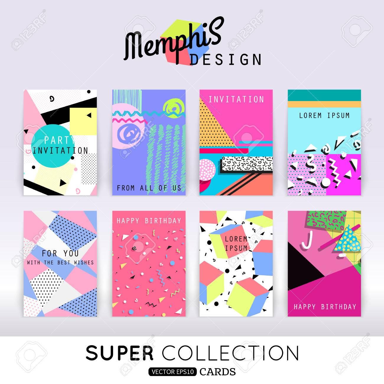 set of memphis card