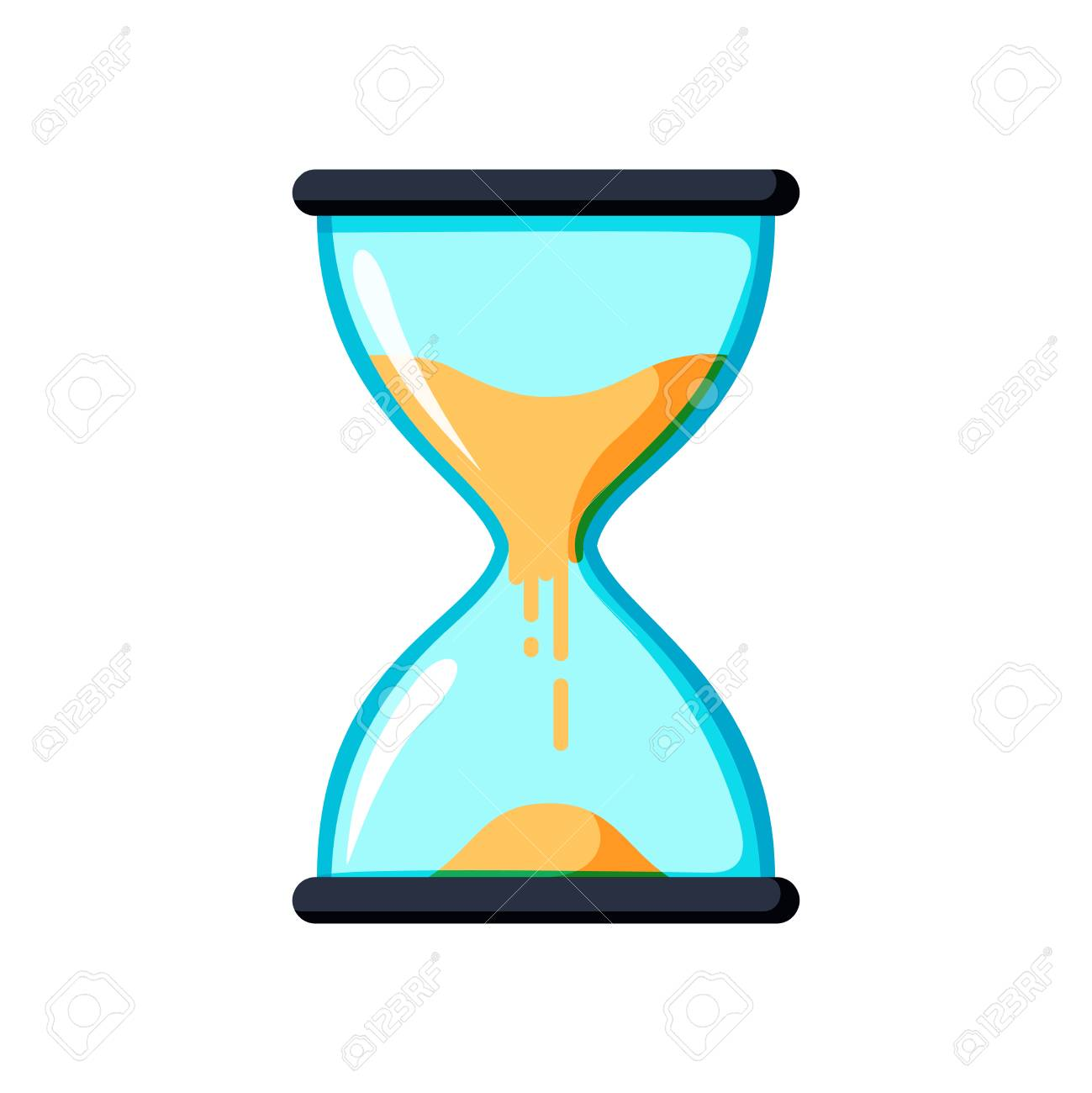 hight resolution of hourglass antique instrument hourglass as time passing concept for business deadline urgency and running