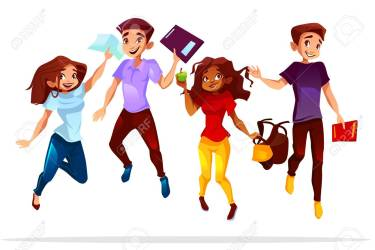 College Or University Students Vector Illustration Of School Royalty Free Cliparts Vectors And Stock Illustration Image 115010672