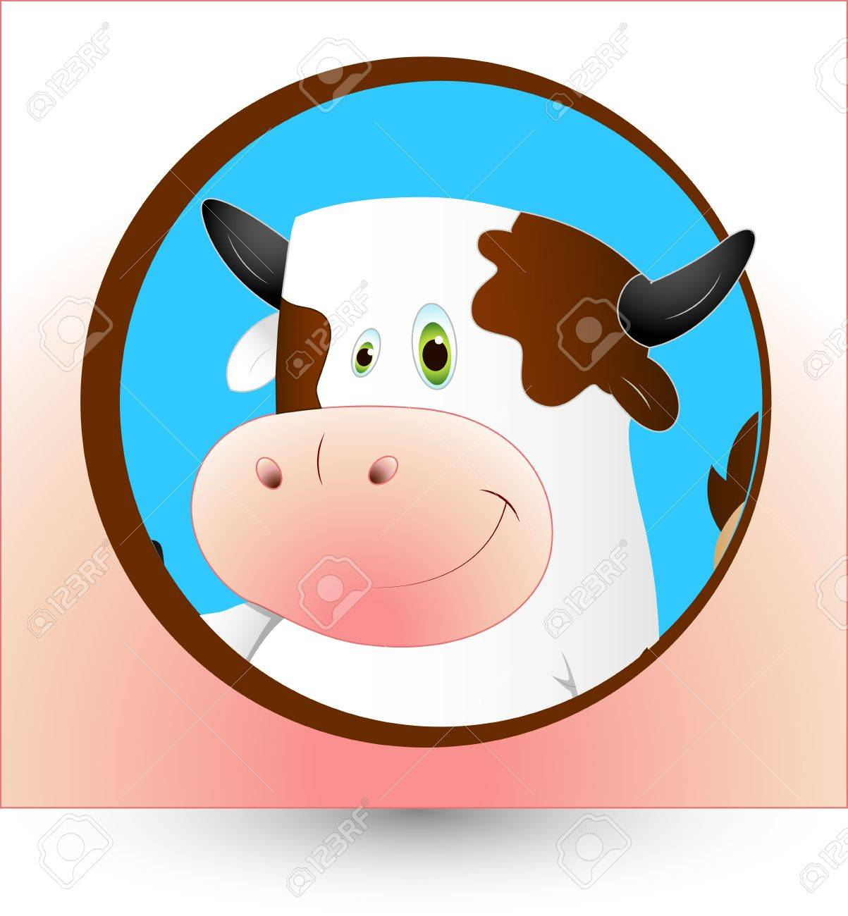hight resolution of dairy cow clipart stock vector 12861562