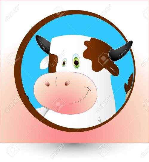 small resolution of dairy cow clipart stock vector 12861562