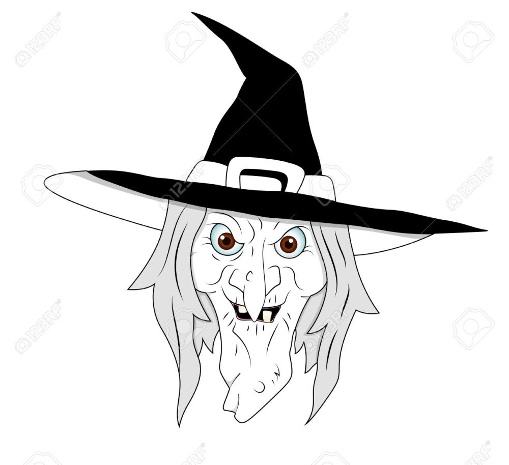 medium resolution of halloween witch clipart stock vector 13276845