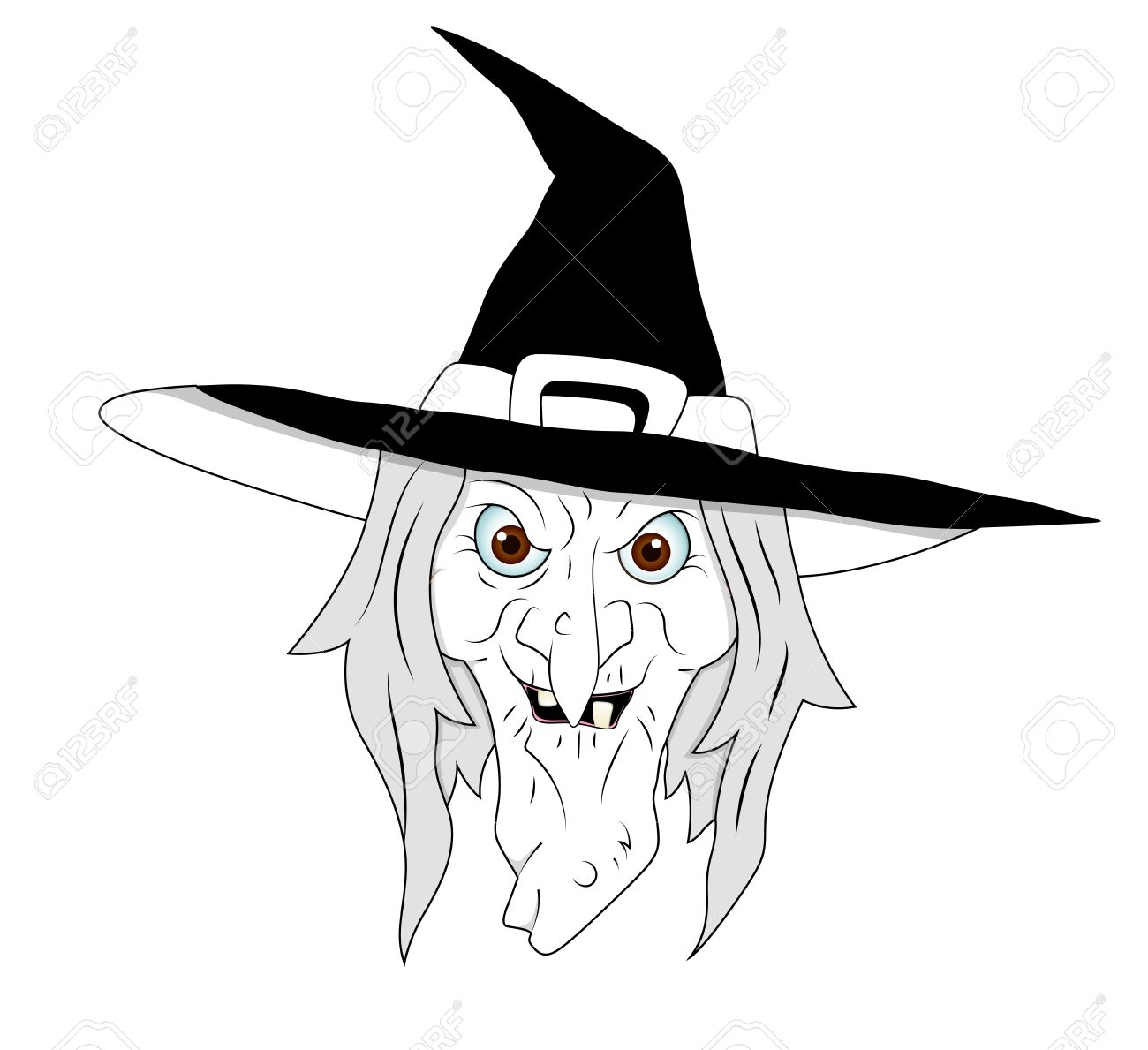 hight resolution of halloween witch clipart stock vector 13276845