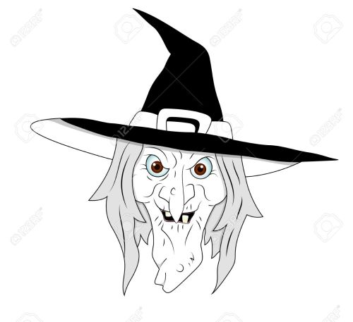 small resolution of halloween witch clipart stock vector 13276845
