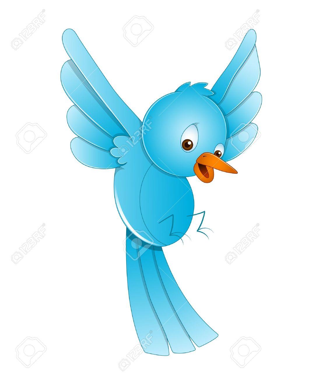 hight resolution of cute bird flying stock vector 13358172