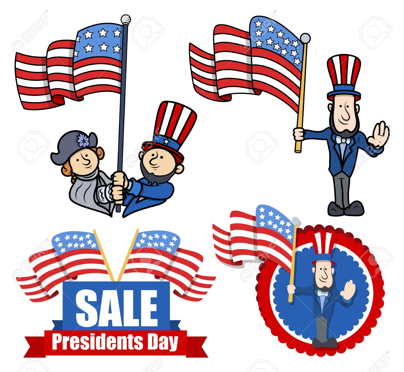 hight resolution of various clip art and design for presidents day stock vector 22060203