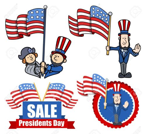 small resolution of various clip art and design for presidents day stock vector 22060203