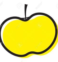 vector yellow apple clipart [ 1300 x 1155 Pixel ]