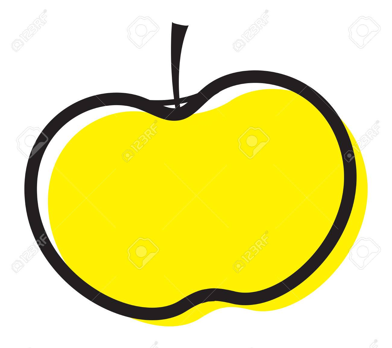 hight resolution of vector yellow apple clipart