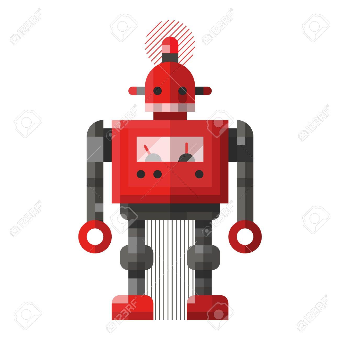 cute robot vector character