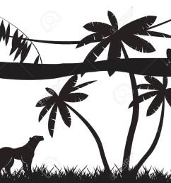 jungle animals silhouettes isolated on white stock vector 53326844 [ 1300 x 919 Pixel ]