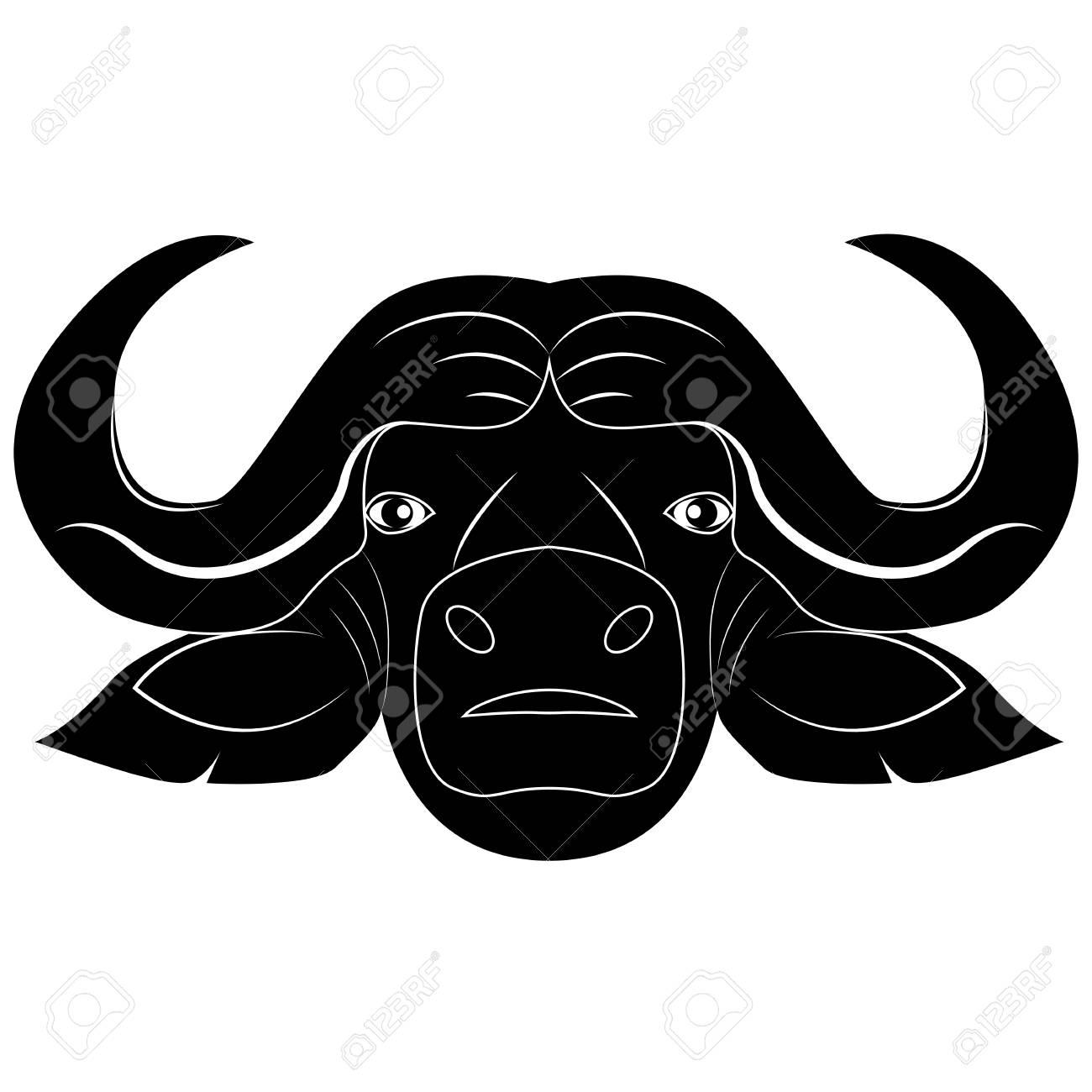 vector silhouette of bull