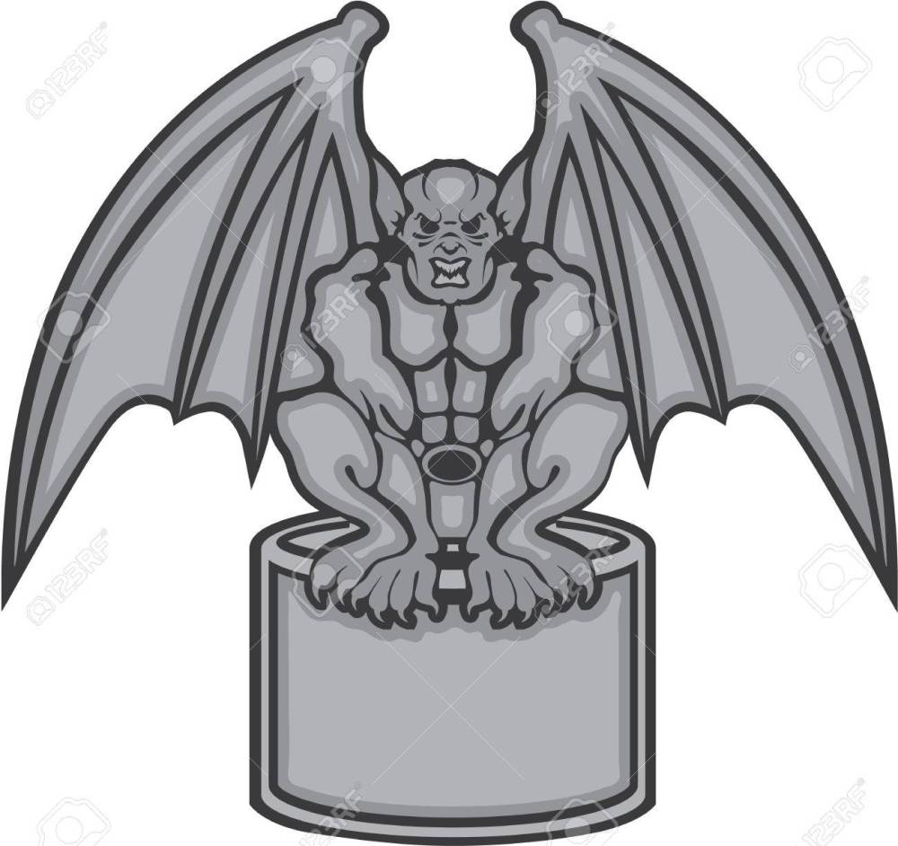 medium resolution of gargoyle stone statue vector illustration clip art stock vector 68043974