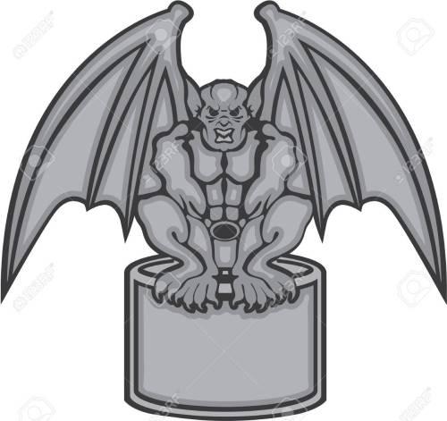 small resolution of gargoyle stone statue vector illustration clip art stock vector 68043974