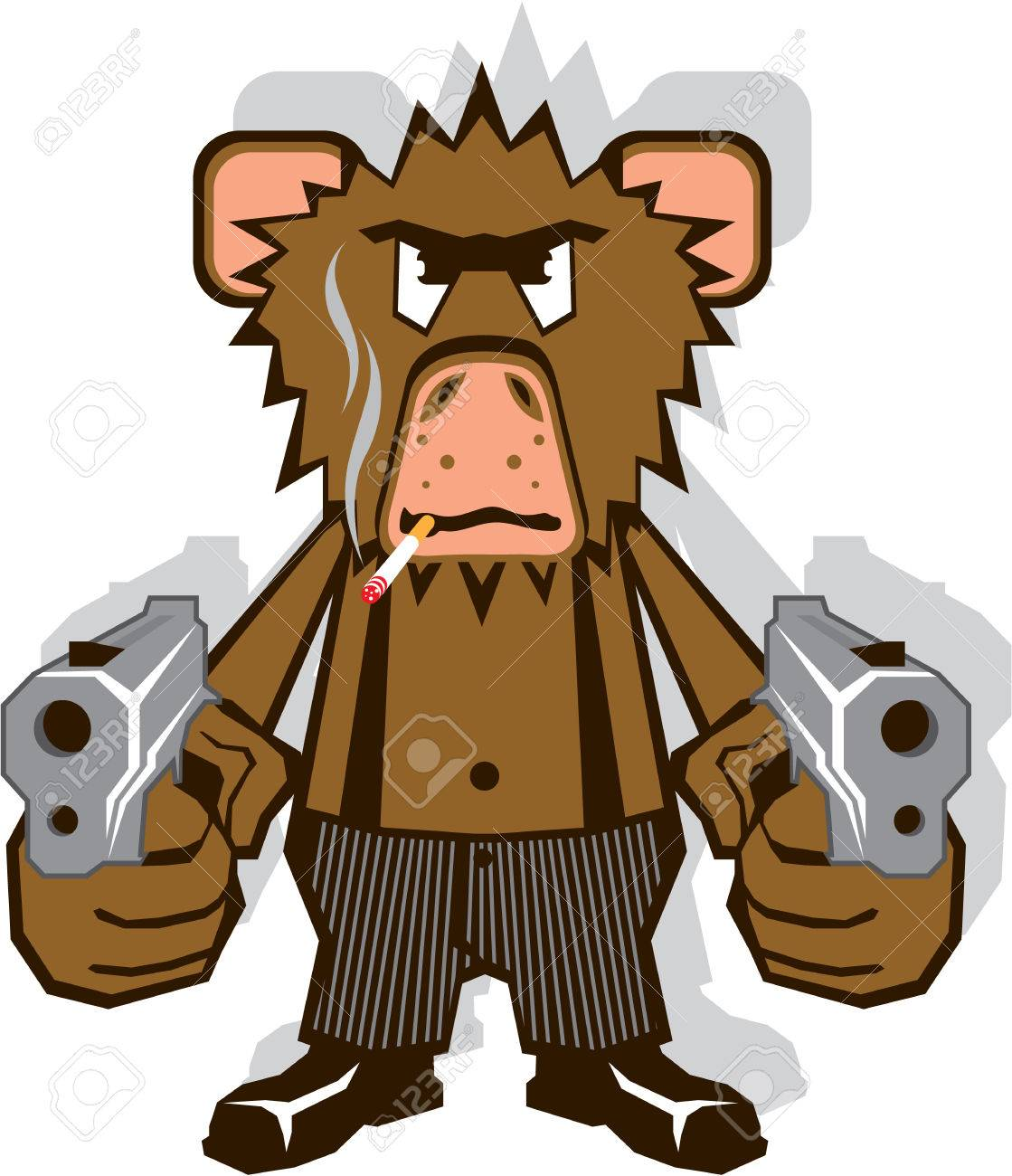hight resolution of gangsta monkey vector illustration clip art eps image stock vector 69634813