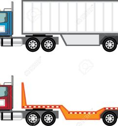 trailer truck vector illustration clip art image stock vector 69465987 [ 1300 x 892 Pixel ]