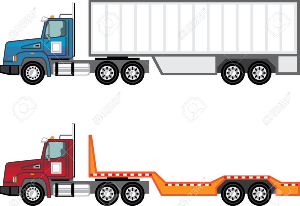 medium resolution of trailer truck vector illustration clip art image stock vector 69465987