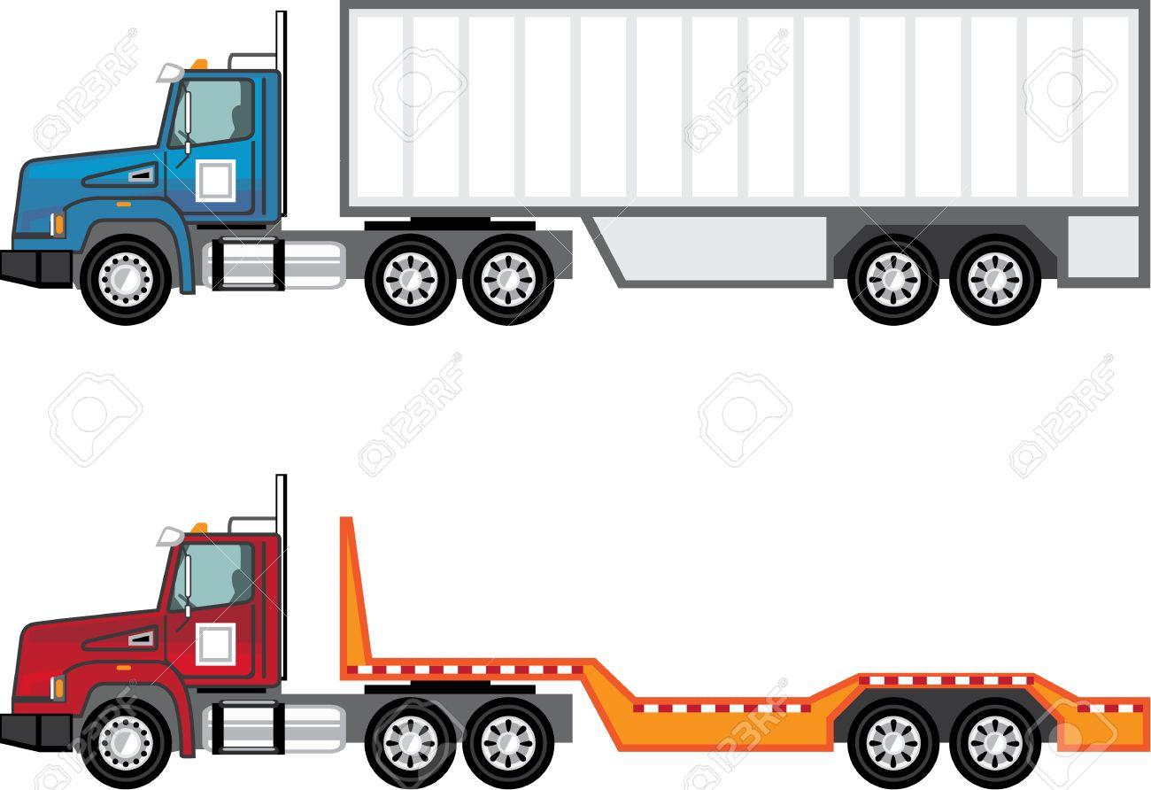 hight resolution of trailer truck vector illustration clip art image stock vector 69465987