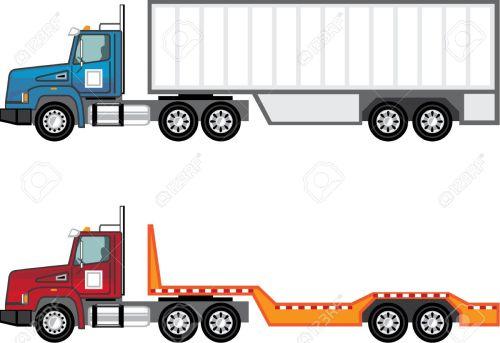 small resolution of trailer truck vector illustration clip art image stock vector 69465987