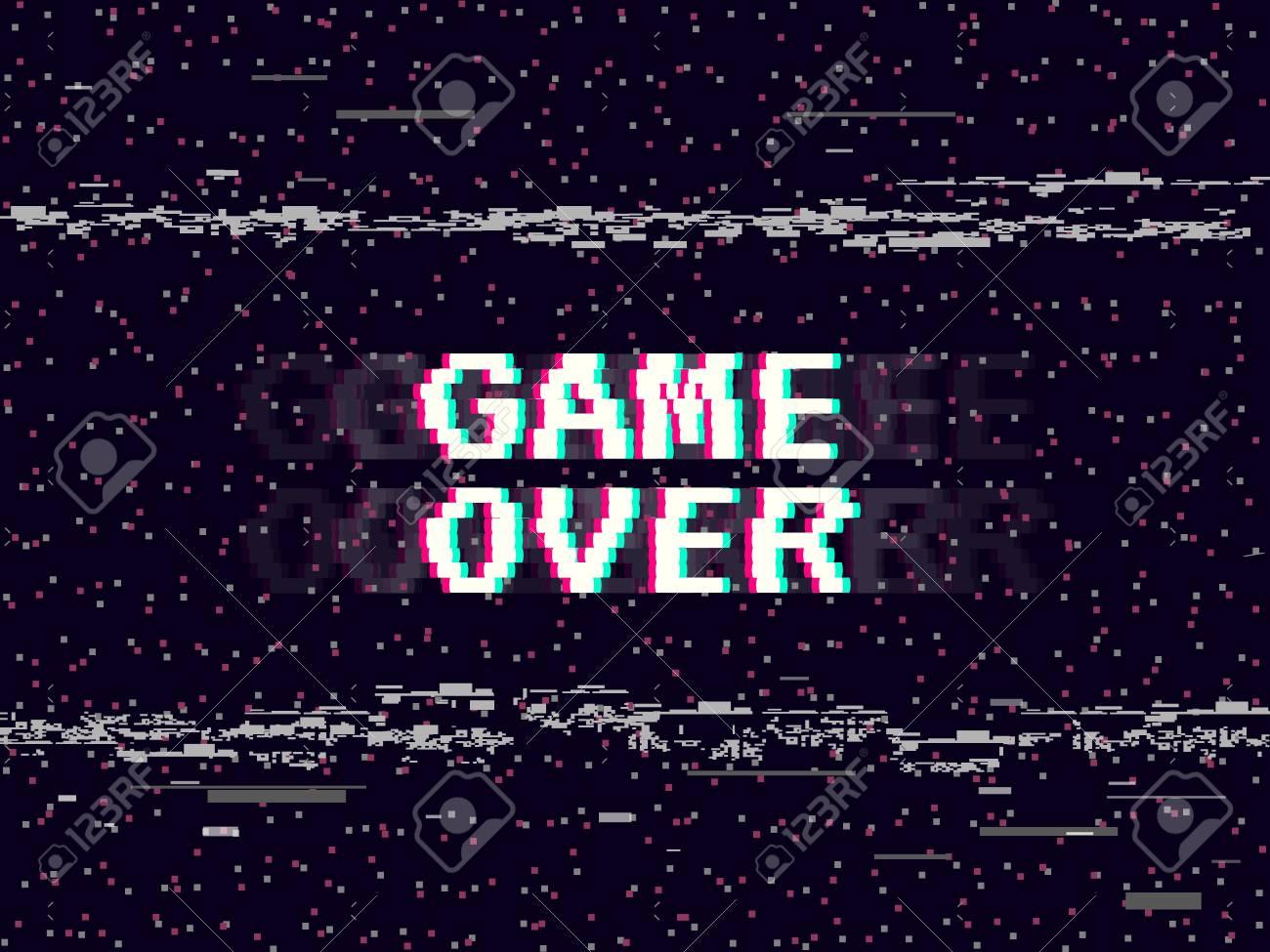 game over glitch background